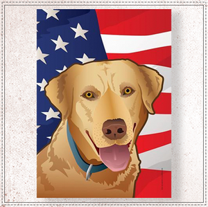 USA Yellow Lab Garden Flag