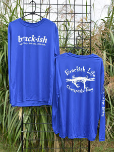 Brackish Life Royal Blue Performance UV Longsleeve