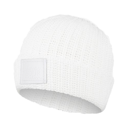 WHITE REVITALIZE CUFFED BEANIE