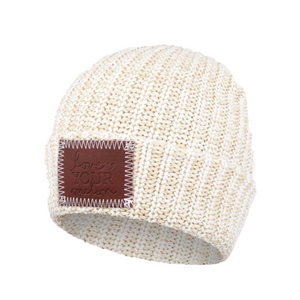 KIDS KHAKI SPECKLED CUFFED BEANIE