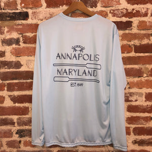 Pastel Blue Annapolis MD Boat Shirt