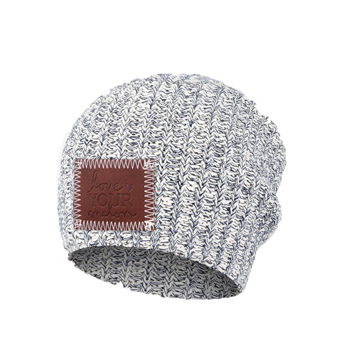 KIDS NAVY SPECKLED BEANIE
