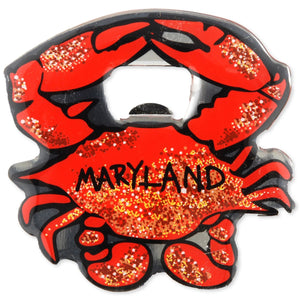 Bottle Opener Crab Magnet
