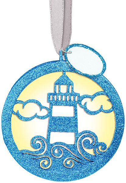 Glitter Lighthouse Ornament