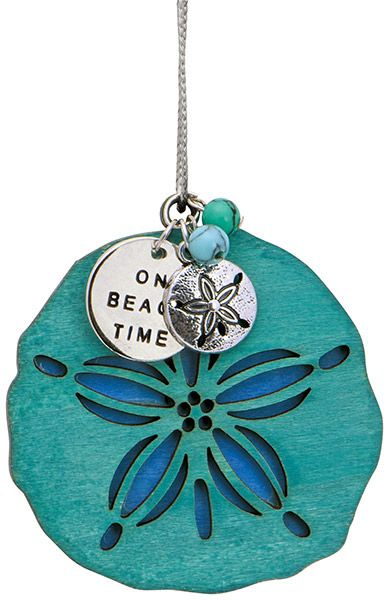 Blue Sand Dollar Charm Ornament