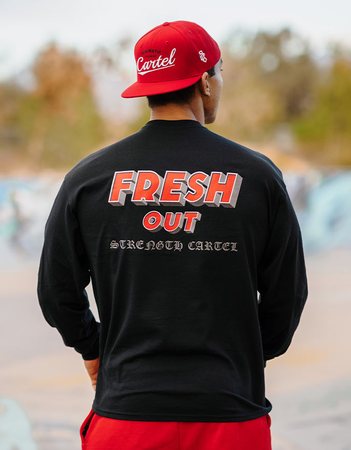 STRENGTH CARTEL FRESH OUT LONG SLEEVE TEE