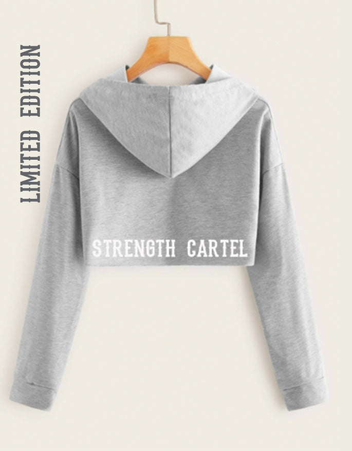 STRENGTH CARTEL STARS CUT-OUT HEATHERED HOODY