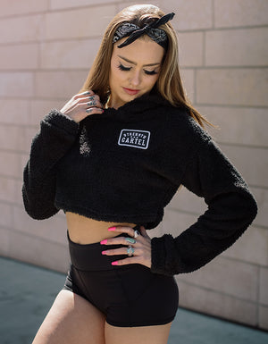 STRENGTH CARTEL CROP TEDDY HOODY