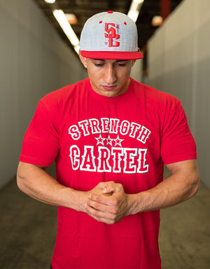 STRENGTH CARTEL OG STARS TEE RED