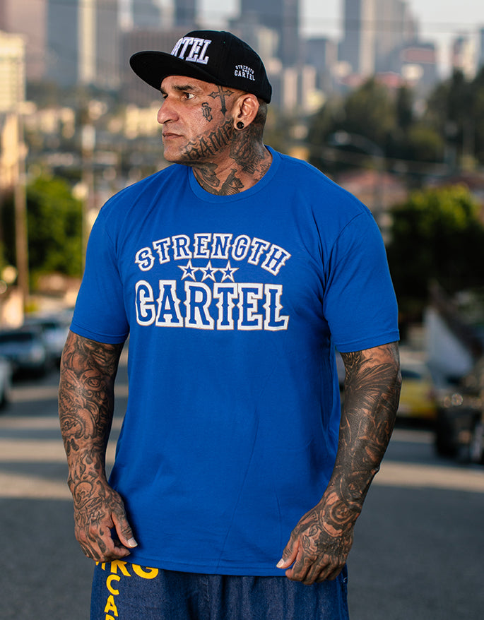 STRENGTH CARTEL STARS BLUE TEE