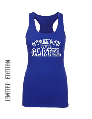 STRENGTH CARTEL BLUE WOMENS TANK