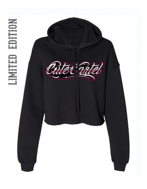 CUTE CARTEL CROPPED FLEECE HOODIE
