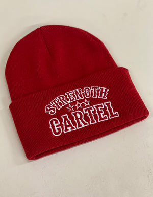STRENGTH CARTEL OG STARS BEANIE RED
