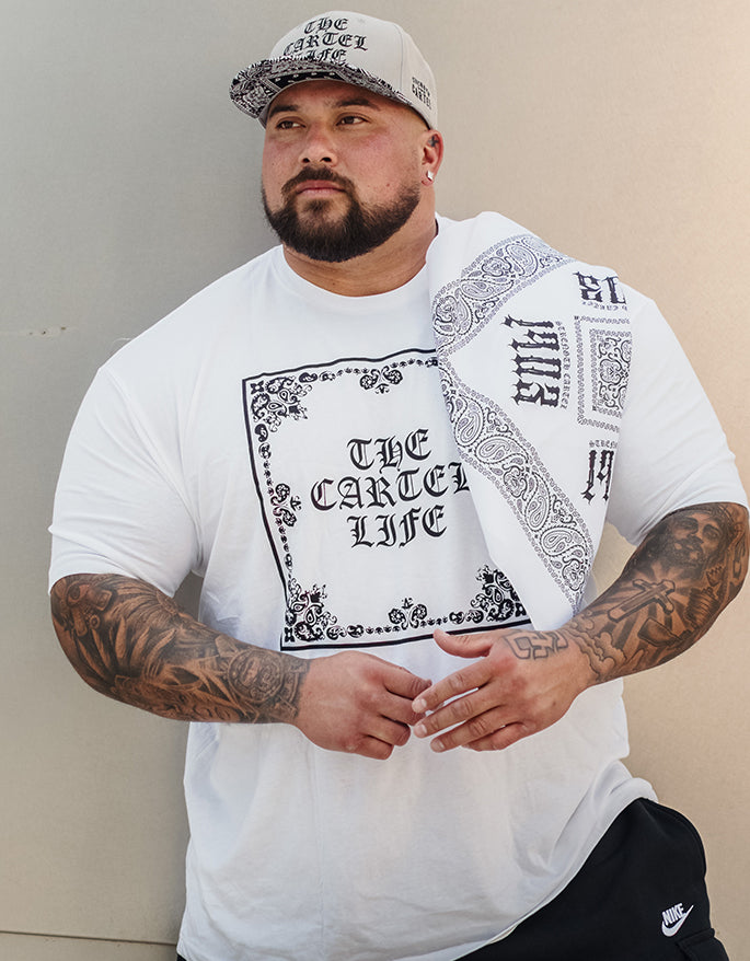 STRENGTH CARTEL 1903 WHITE BANDANA