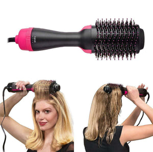 Hair Dryer With Comb 2 in 1 Straightening & Drying Hair Brush Volumizer Hot Air Combo
