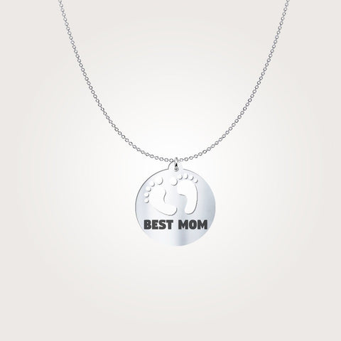 Pendant - Gifts For Mom - Best Mom Baby Foot Print Necklace