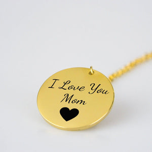 Gifts For Mom - I Love You Mom Necklace
