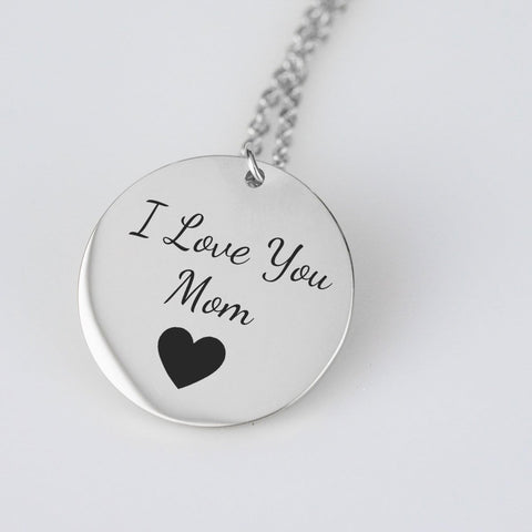 Pendant - Gifts For Mom - I Love You Mom Necklace