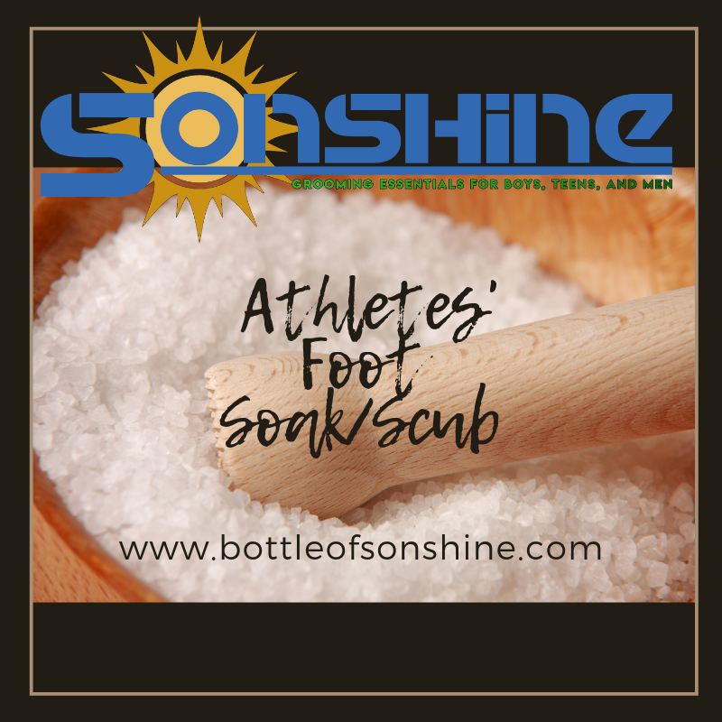 Tired Athletes' Foot Soak/Scrub