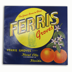Ferris Groves Crate Label