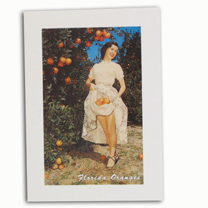Florida Oranges Lady in Dress