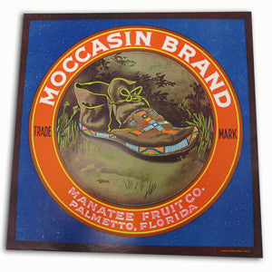Moccasin Brand Crate Label