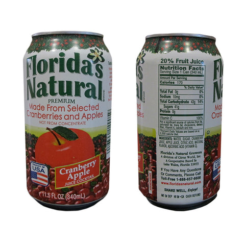 Florida's Natural Cranberry Apple Cocktail 11.5oz Cans