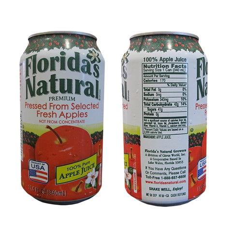Florida's Natural 100% Apple Juice 11.5oz Cans