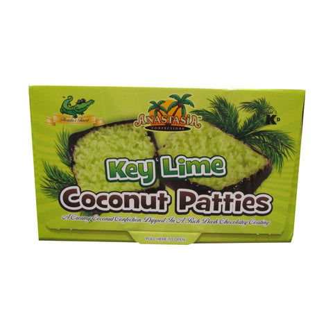 Key Lime Flavored Chocolate Coated Coconut Patties
