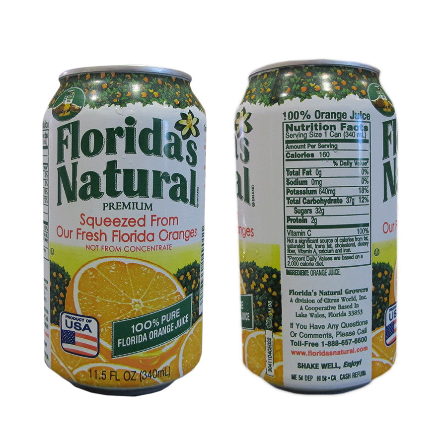 Florida's Natural 100% Orange Juice 11.5oz Cans