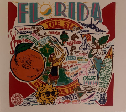 Florida State tea towel