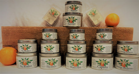 Orange Blossom Candle Company candles