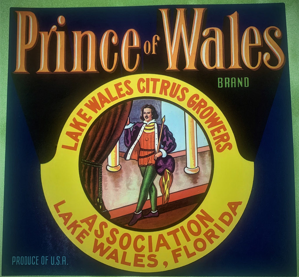 Prince of Wales crate label