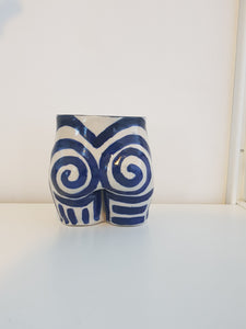 Bum Pot In Navy Swirl