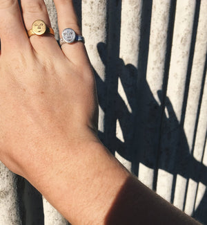 Mini Sun Face Ring