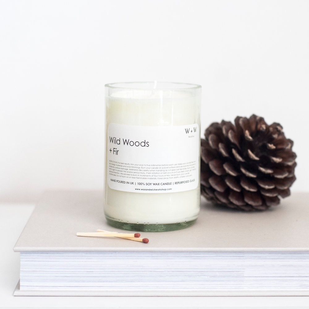 Wax & Wick Wild Woods + Fir