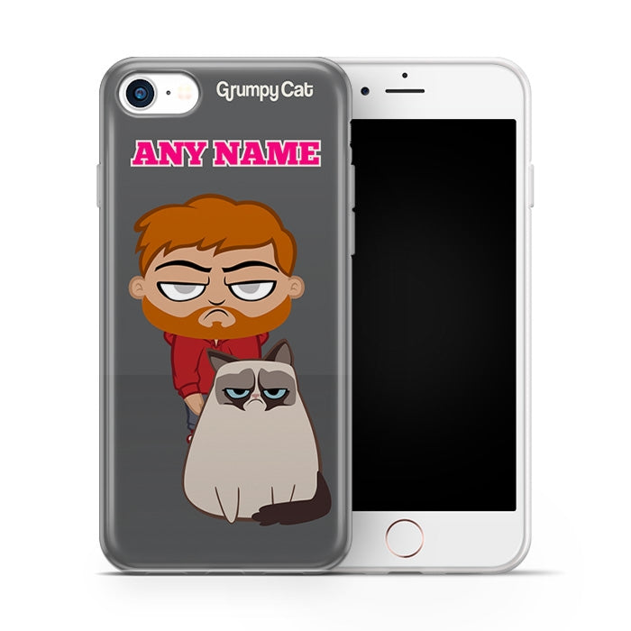 Grumpy Cat Charcoal Phone Case - Image 1