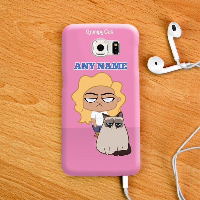 Grumpy Cat Pink Phone Case - Image 1