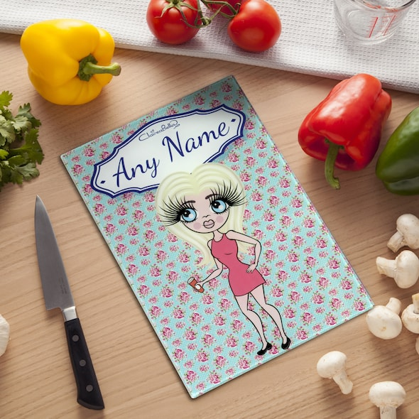ClaireaBella Glass Chopping Board - Rose - Image 1