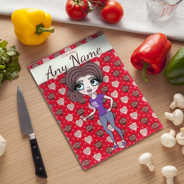 ClaireaBella Glass Chopping Board - Chocoholic - Image 1