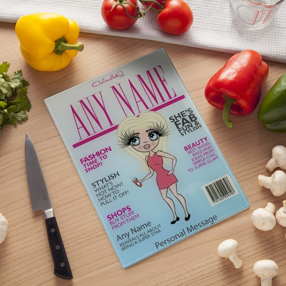 ClaireaBella Glass Chopping Board - Cover Girl - Image 1