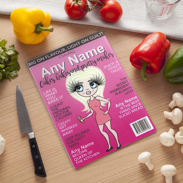 ClaireaBella Glass Chopping Board - Baking Queen - Image 1