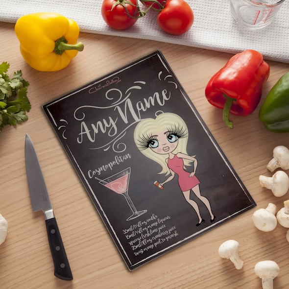 ClaireaBella Glass Chopping Board - Cocktail - Image 1