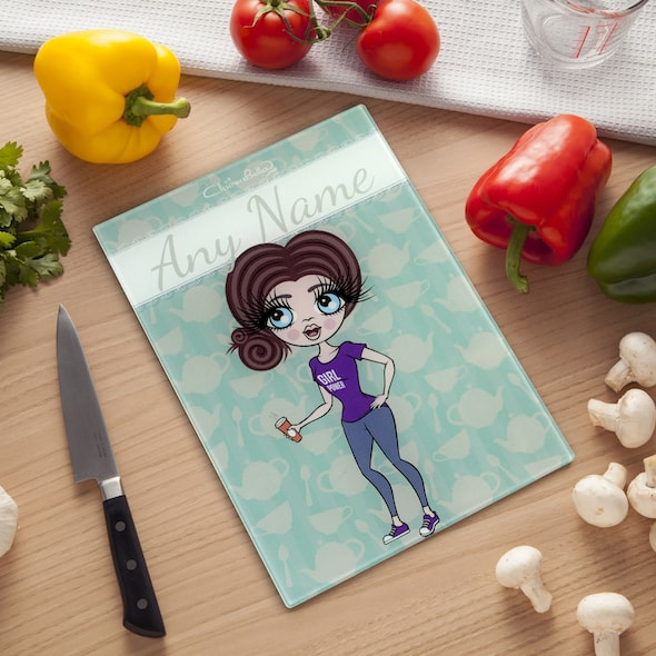 ClaireaBella Glass Chopping Board - Teapot - Image 1