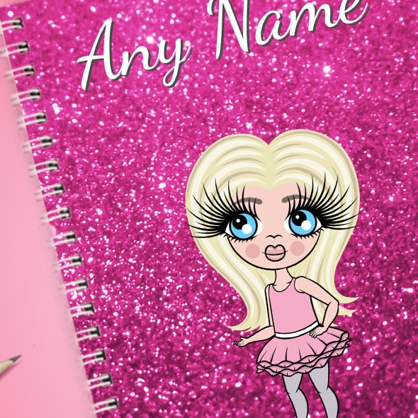 ClaireaBella Girls Glitter Print A5 Softback Notebook - Image 2