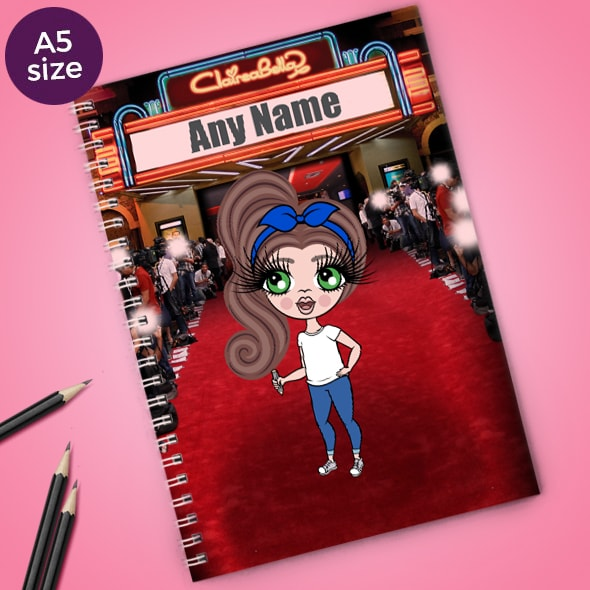 ClaireaBella Girls Red Carpet A5 Softback Notebook - Image 1
