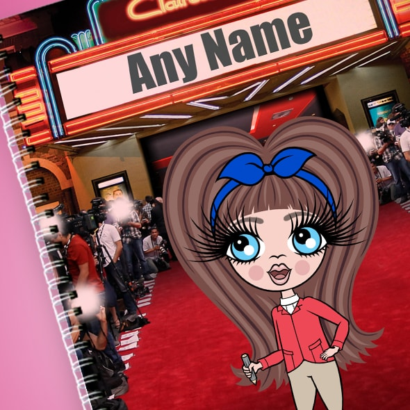 ClaireaBella Girls Red Carpet A4 Softback Notebook - Image 2