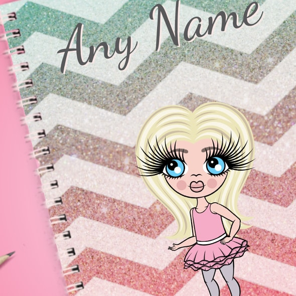 ClaireaBella Girls Zig Zag Sparkle A5 Softback Notebook - Image 2