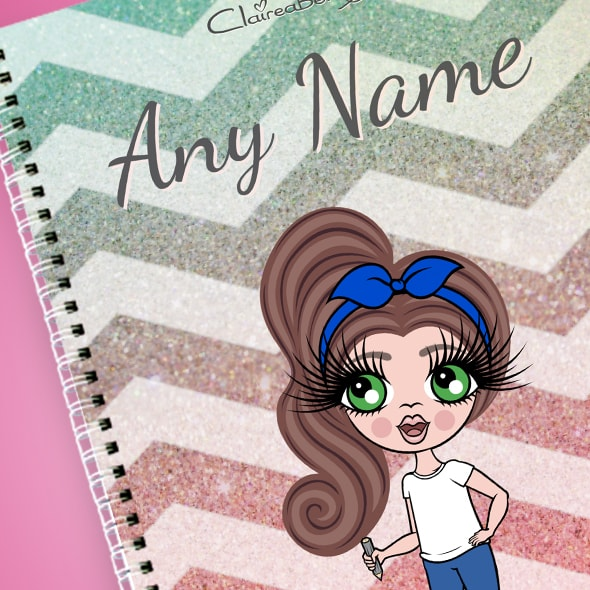 ClaireaBella Girls Zig Zag Sparkle A4 Softback Notebook - Image 2
