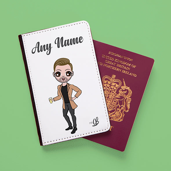 MrCB White Passport Cover - Image 1